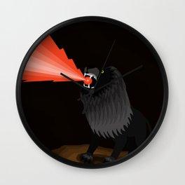 Black Lion Roar Wall Clock