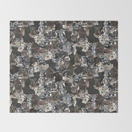 Schnauzer Collage Realistic Throw Blanket