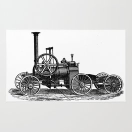 Steam car Rug