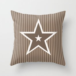 The Greatest Star! Coffee and Cream Throw Pillow