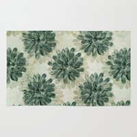 succulents Area & Throw Rugs featuring Succulents by Sandra Arduini