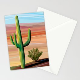 Saguaro Cactus in Desert Stationery Cards