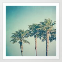 palms Art Prints featuring Palms by Laura Ruth