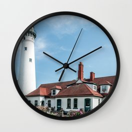 Wind Point Lighthouse 2 Wall Clock