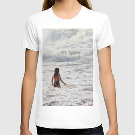 Breaking wave and girl T-shirt