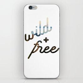 wild + free iPhone Skin