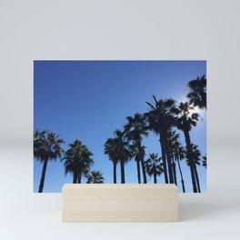 Soaring Palm Trees on the California Coast Mini Art Print