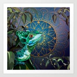 Basilisk Lizard Kunstdrucke
