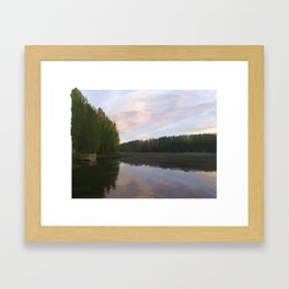 A Lake in Finland Framed Art Print