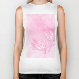 Wattle and kaleidoscope in pink Biker Tank