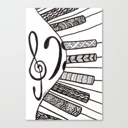 Piano Keys Canvas Print