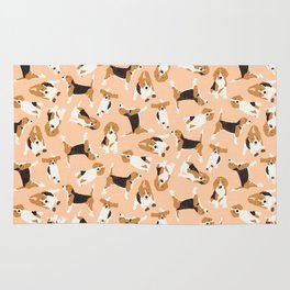 beagle scatter peach Rug