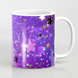 Purple Background with Stars Coffee Mug