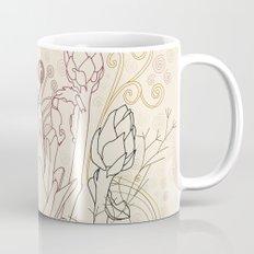 Peach and purple  artichoke Mug