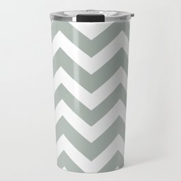 Ash gray - grey color - Zigzag Chevron Pattern Travel Mug