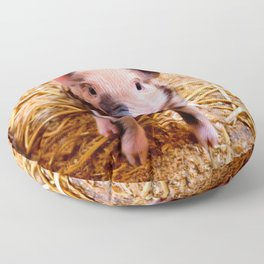 Cute Baby Piglet Farm Animals Babies Floor Pillow