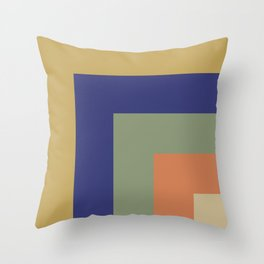 Striped Corners 1 Throw Pillow