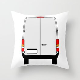Small Van Back Doors Throw Pillow