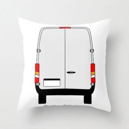Small Van Back Doors Throw Pillow