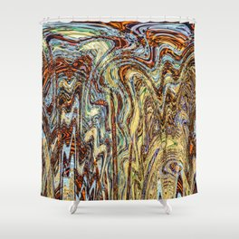 Scramble - Digital Abstract Expressionism Shower Curtain