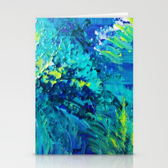 DIVE IN - Beautiful Textural Abstract Acrylic Painting Ocean Waves Beach Art Home Decor Gift Stationery Cards