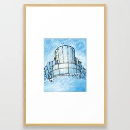 Disc Golf Fantasy Art - Ice Basket Framed Art Print