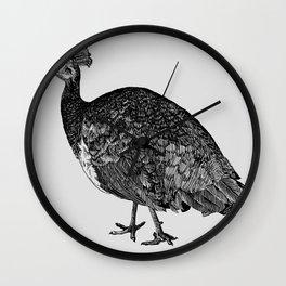 Female Peacock Wall Clock
