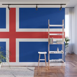 National flag of Iceland Wall Mural