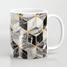 Marble Cubes - Black and White Coffee Mug