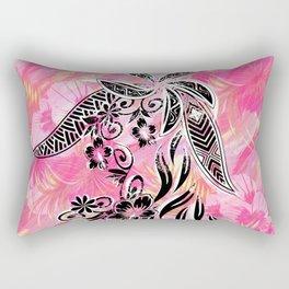 Pink Tribal Floral Rectangular Pillow