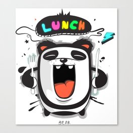 PANDA LUNCH TIME! Canvas Print