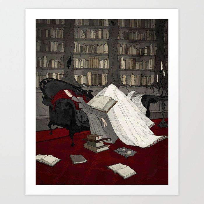 Asleep in the Library Kunstdrucke