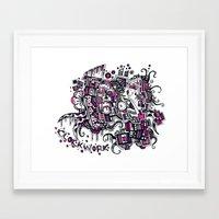 clockwork Framed Art Prints featuring Clockwork by Voodoodle