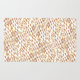 autumn leaf waves Rug