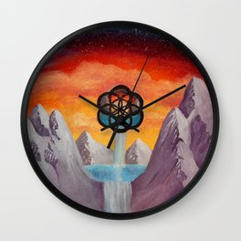 The Seed Of Life Wall Clock