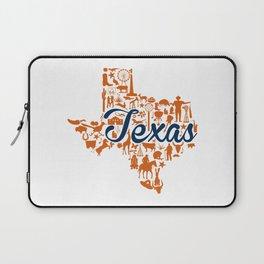 UT Austin Texas Landmark State - Blue and Orange UT Theme Laptop Sleeve