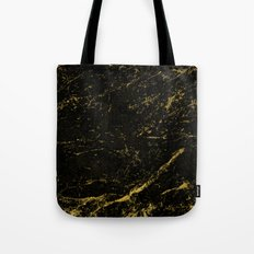 Black Gold Marble Tote Bag