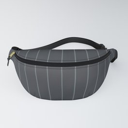 Gray with Gray Pinstripes Fanny Pack