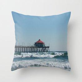 Huntington Beach Life Throw Pillow