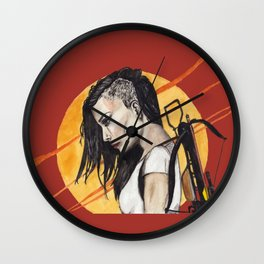 Road Warrior - Red Wall Clock
