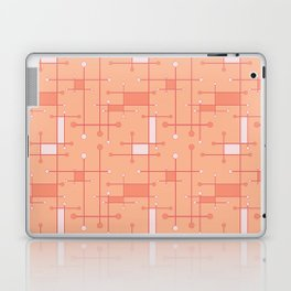 Intersecting Lines in Peach and Pink Laptop & iPad Skin