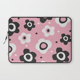 Black and white flowers Laptop Sleeve
