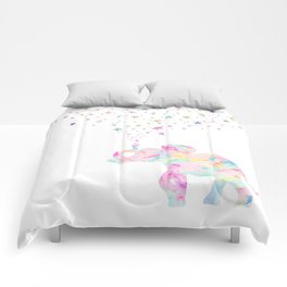 MAKE ME HAPPY ELEPHANT  Comforters