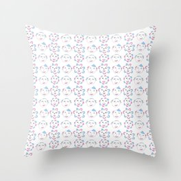 flower and face-flower,bloom,blossom,nature,funny,plants,nature,visage,face Throw Pillow