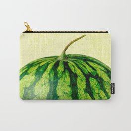 A Watermelon on yellow background Carry-All Pouch