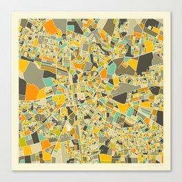 LUSAKA, Zambia Map Canvas Print