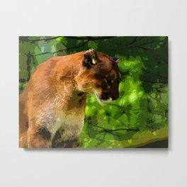 Cougar Mountain Lion Metal Print