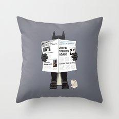 A Bat Sunday Throw Pillow