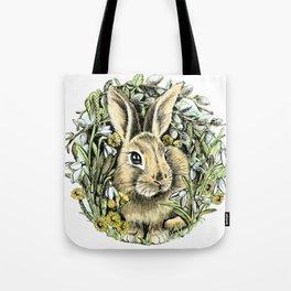Spring rabbit Tote Bag