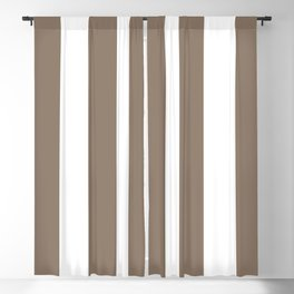 Taupe and White Vertical Stripes 894 Blackout Curtain
